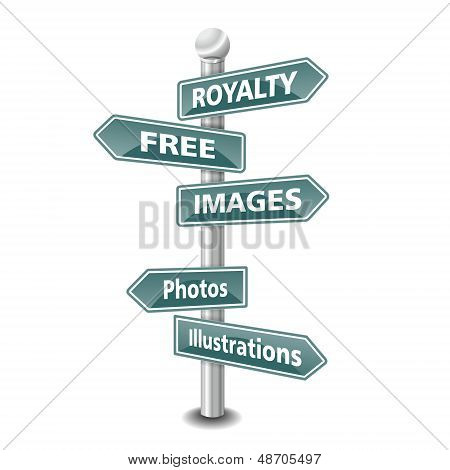 ROYALTY FREE IMAGES  icon as signpost