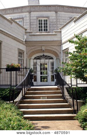 Back Of Burritt Mansion