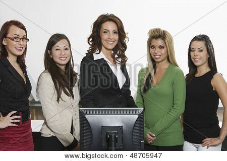 Portrait of a happy and confident multiethnic group of businesswomen