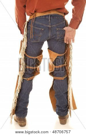 Back Of A Cowboy In Chaps