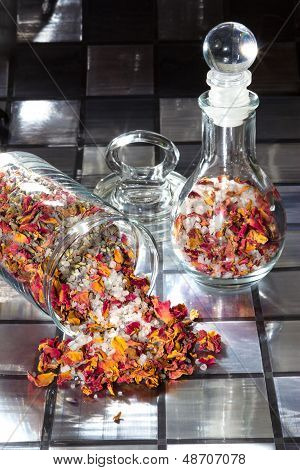 Potpourri With Dried Rose Petals
