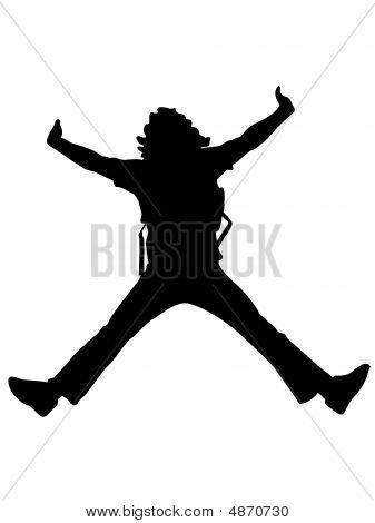 Young Man Jumping High
