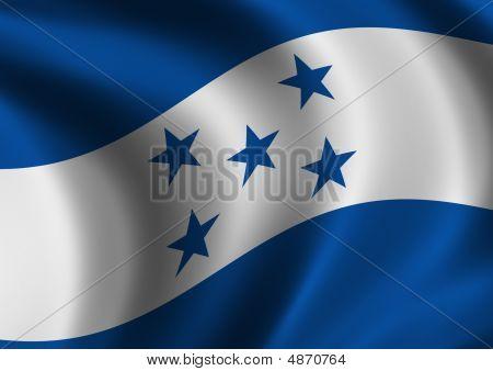 Honduras - Flag Of - Close Up