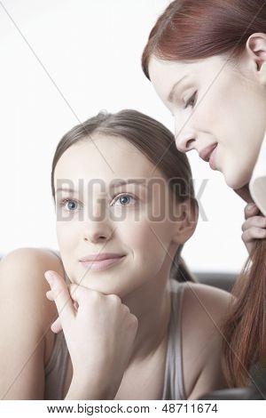 Beautiful young women with flawless skin