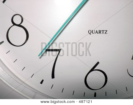 Clock With Blue Hour Hand