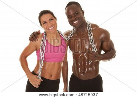 Fitness Couple Chain Sweat Smile