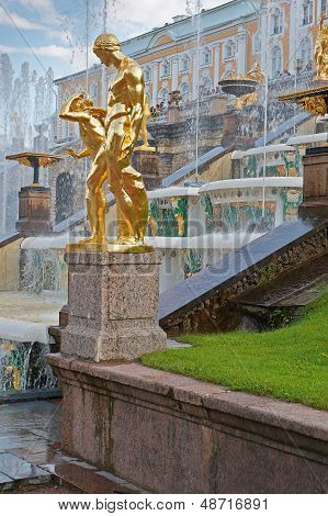 Grand Cascade Fountains Of Peterhof