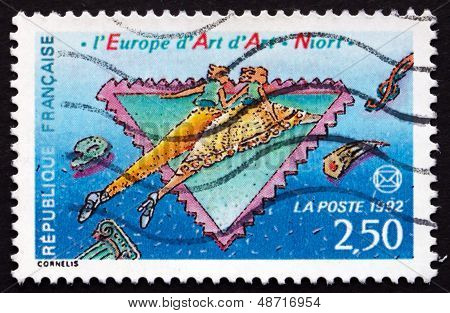 Postage Stamp France 1992 National Art Festival, Niort