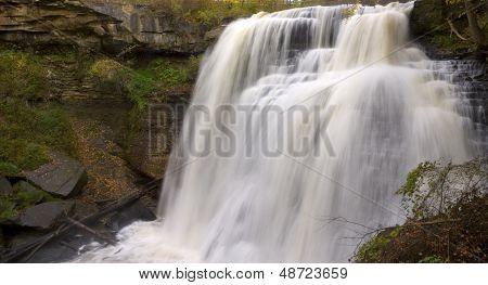 Brandywine Falls In Autumn Landscape