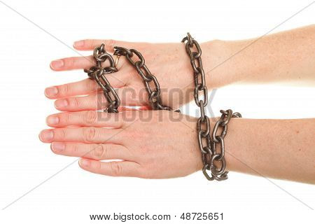 Chain On Hand And Wedding Ring