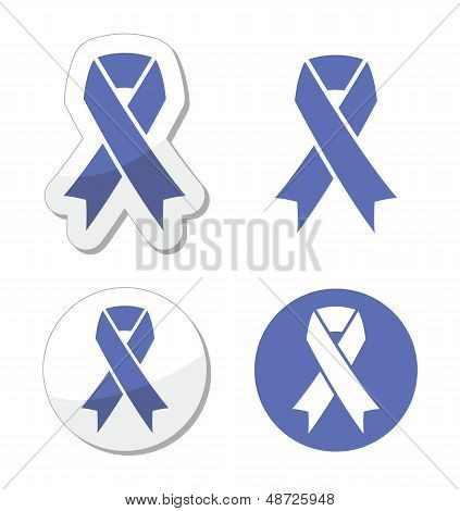 Periwinkle ribbons set - eating disorder symbol