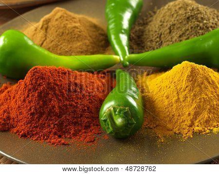 Pepper, Turmeric, Cumin And Cinnamon