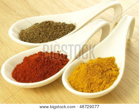 Cumin, Turmeric And Pepper