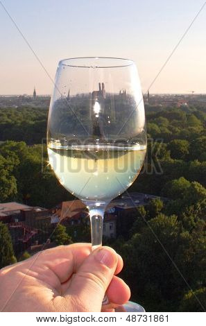wine glass held in a hand