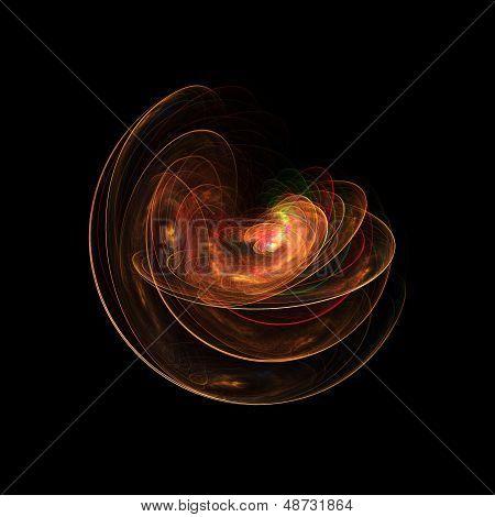 fire galaxy circle layers