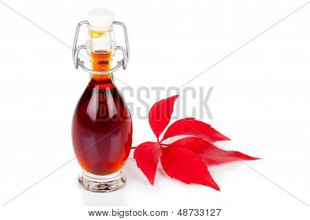 Bottle Of Drink, Mixture On White Background.