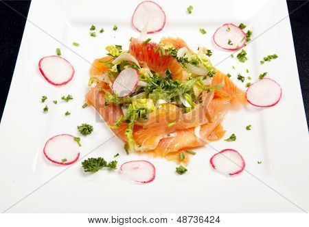Smoked Salmon Salad Appetizer
