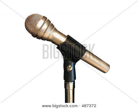 Picture or Photo of Vocal microphone on white background