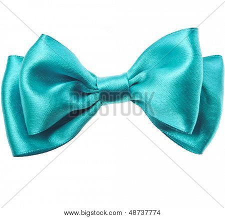 Beautiful bow close up isolated on white background