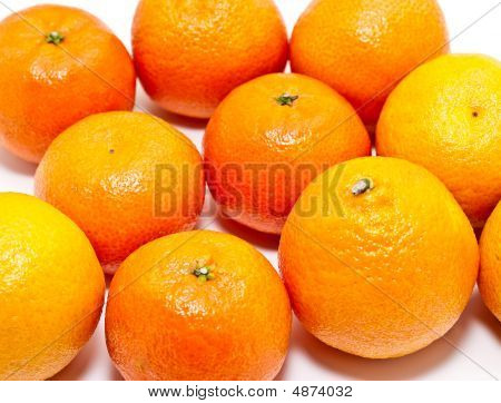 Group Of Tangerines