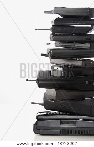 Pile of wireless phones