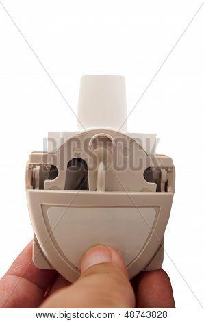 Powder Asthma Inhaler On Hand