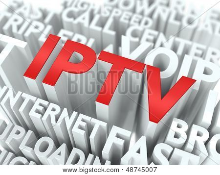 IPTV. The Wordcloud Concept.