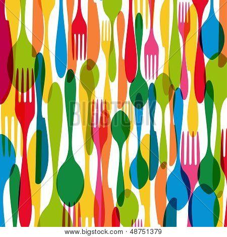 Cutlery Seamless Pattern Illustration