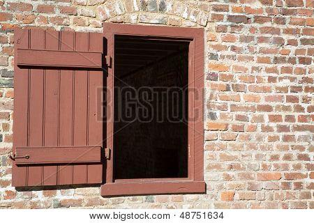 Open window shutter