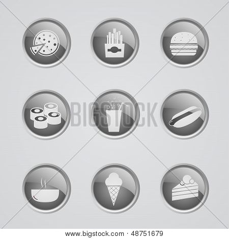 Set of fast food icons
