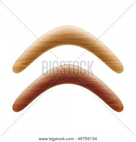Wooden boomerang. Vector.
