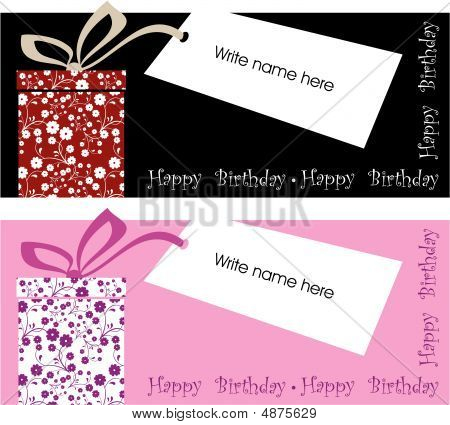Vector Gift Label