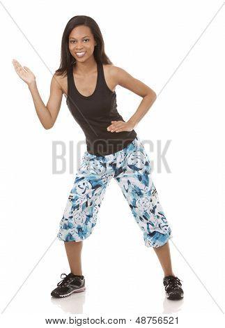 Woman Exercising Zumba
