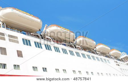 Life Boats On Cruise Ship