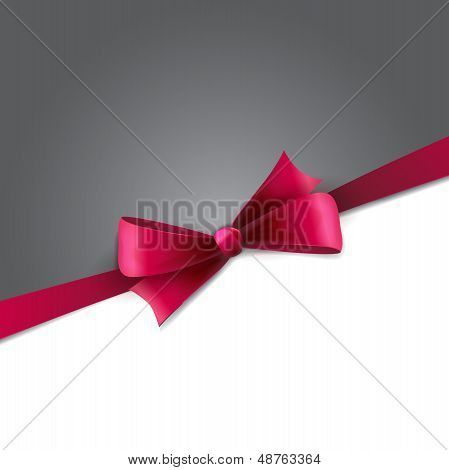 Purple gift bows with ribbons