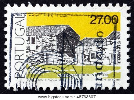 Postage Stamp Portugal 1988 Beira Interior, Traditional Architecture