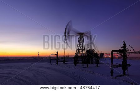 Oil Rig In Action.
