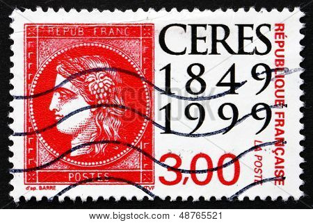 Postage Stamp France 1999 Ceres, Stamp Day