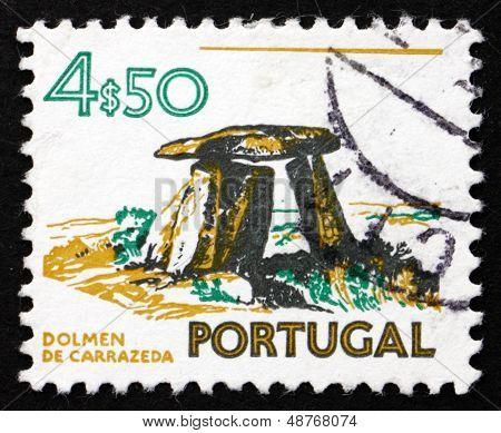 Postage Stamp Portugal 1974 Dolmen Of Carrazeda, Prehistoric Construction