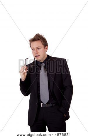 Businessman Pondering