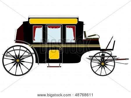 Black Retro Stagecoach