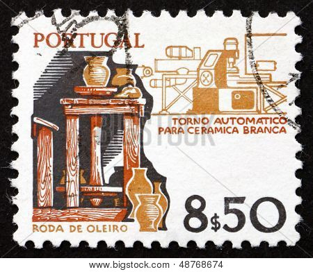 Postage Stamp Portugal 1978 Potter's Wheel