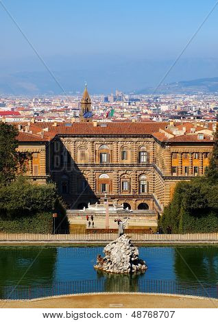 The Palazzo Pitti in Florence