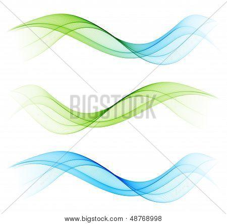 Set of color wave