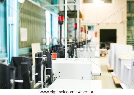 Parte da máquina de Impressão Offset