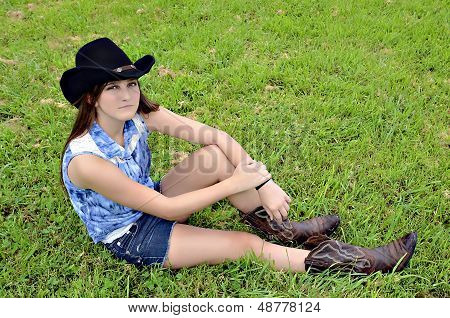Teenage Cowgirl Expression