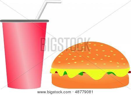 Burger and Softdrink