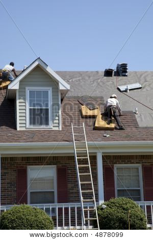 Roofers Working