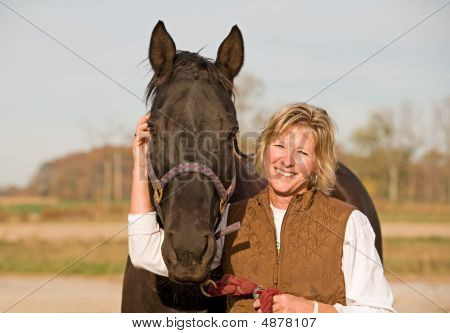 Horse And Woman Laughing