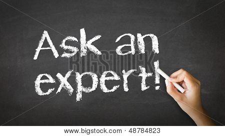 Fragen Sie zur Veranschaulichung Experte Kreide